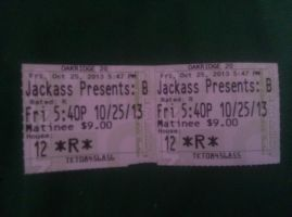 movie tickets of jackass presents Bad grandpa by bigbob101