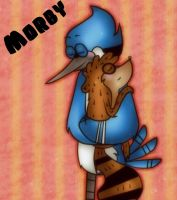 Mordecai x Rigby by JenyLittlie123