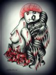 FALLEN ANGEL tattoo design by MWeiss-Art
