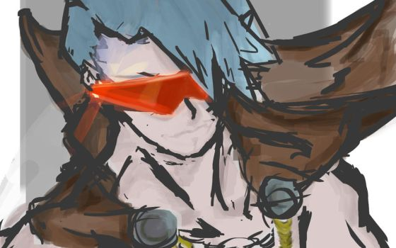 Do The Impossible - Kamina 30 minute speedpaint by MisterTomodachi