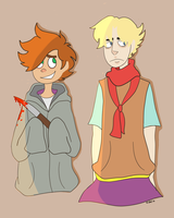 Sockathan Week: Day 4 Clothes Swap by TanithCharnel