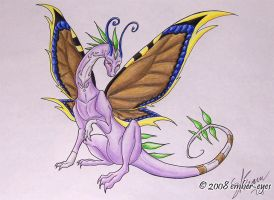 Butterfly Dragon - Colored by Ember-Eyes