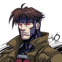 Digital Sketch Warm up - 14 Gambit by Vostalgic