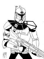 ARC trooper Spar-traditional ink by UGCcomics
