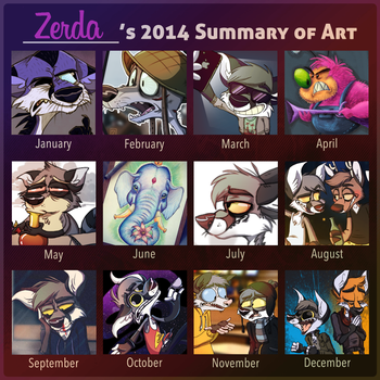 2014 Art summary by Zerda-Fox