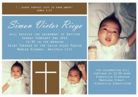 Simon Victor Riego's Christening (Commissioned) by darkchronix95