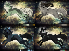 Wolf Adoptables by Ghulhund