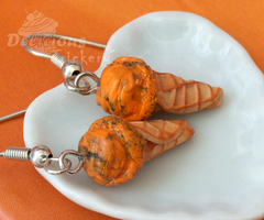 Tiger Stripe Ice Cream Earrings by DeliciousTrickery