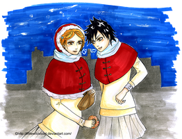 Donuts Christmas-Hime and Tatsuki by littleWildviolet