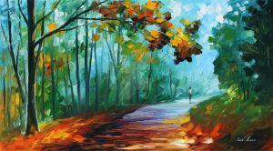 Fresh forest by Leonid Afremov by Leonidafremov