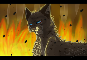 Ashfur - Burn in hell - SPEEDPAINT by Espenfluss