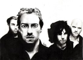 Coldplay Pencil Drawing by morningcoffeebreak