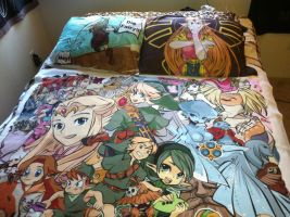 Ocarina of Time Zelda Set by Kaytes-Blanket-Sets