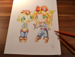 Blood Elf - Orc couple by Lighane