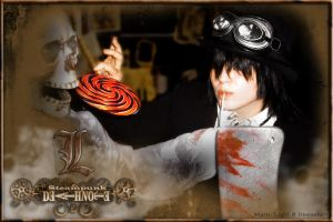 Steampunk Death Note: Mr Bones by Maru-Light