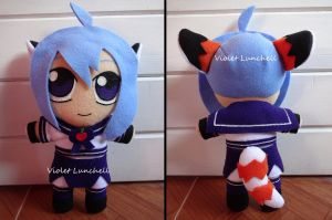 Satomi OC plushie by VioletLunchell