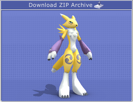 PaperMon Renamon by PapercraftKing