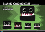 BlackCrocodile dock icons by Carburator