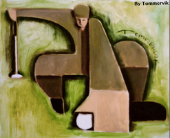 golf painting by TOMMERVIK
