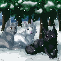 :CM:Three Wolves Poster: by Vinabe