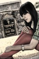 Lena at cemetary 2 by dhuo