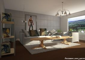 Living Room by aXel-Redfield