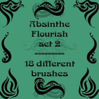 Absinthe Flourish 2 by rL-Brushes