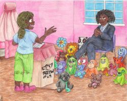 The President Addresses Her Constituents by Fevley