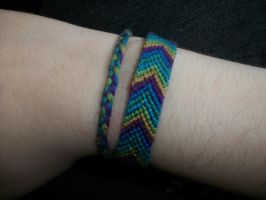 Peacock Chevron Bracelet by QueenAliceOfAwesome