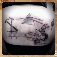 pink floyd tattoo by dottcrudele