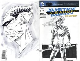 JLA SKETCH COVER by drawhard