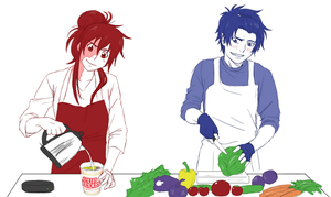 Cooking Together by Kayla-Chan