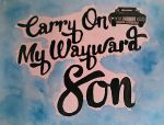 Carry On Watercolour by Dylan-OWolf