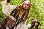 02 Jack Sparrow and Angelica Teach by portpolyonamo1979