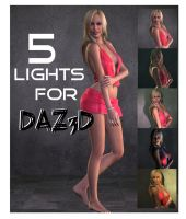 5 Daz Portrait lights by Ecathe