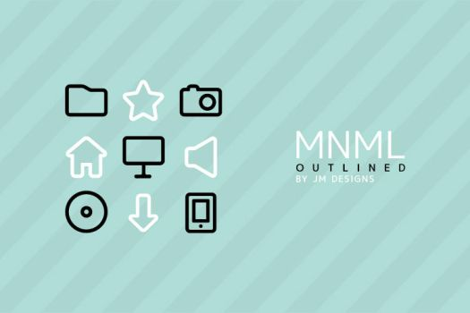 MNML Outlined Icon Pack by JM--Designs
