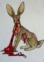 Zombie Jack Rabbit by IckyDog