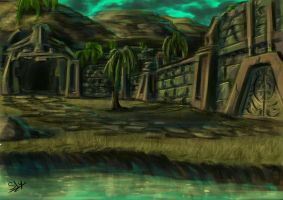 Nali Temple - Concept Sketch by Sly-Mk3