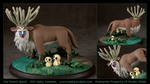 Commission : The Forest Spirit (Princess Mononoke) by emilySculpts
