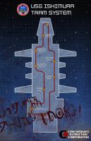Dead Space Ishimura Tram Map by CalamityBane