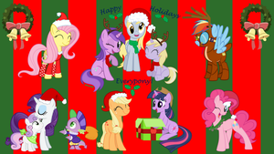 merry Christmas every brony by neodarkwing