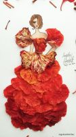 Flower Fashion 4 (Details) by angelaaasketches