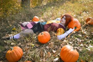 Sally with pumpkins by bloody-magpies