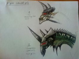 Gigan: Head by Monstermadness18
