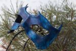 Blue Horned Leather Mask by OsborneArts