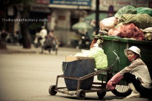 The trash lady by frankrizzo