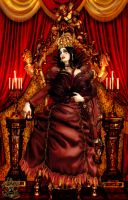 Queen Of Hearts Enthroned by BlackWolf-Studio