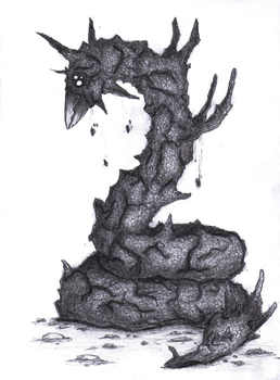 Creature from dream. Worm Dirteater by Georgeact