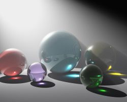 Volumetric Glass Spheres by pyrohmstr