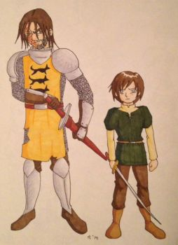 Arya and The Hound by Marle1010